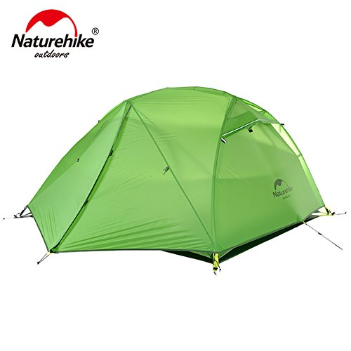 Naturehike Star River Tent 20D Silicone Fabric Ultralight 2 Person Double Layers Aluminum Rod Camping Tent with Mat NH17T012-T