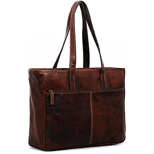 Jack Georges Womens Briefcase - Jack Georges Voyager Business Tote Bag - Brown