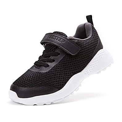 Weestep Toddler Little Kid Girls and Boys Running Sport Sneaker Black Size: 1 Little Kid