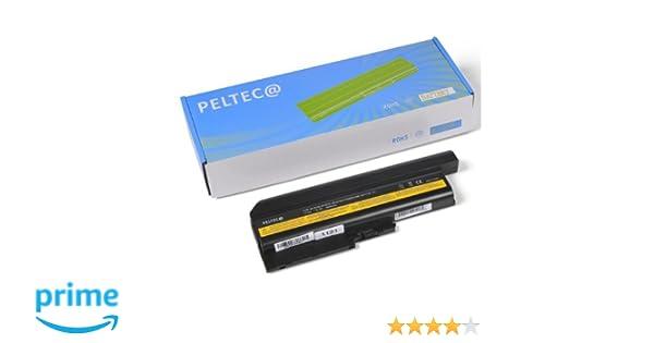 PELTEC@ - Batería de repuesto para portátil IBM Lenovo ThinkPad T60 R60 R61 T-60 R-60 R-61 (6600 mAh): Amazon.es: Electrónica