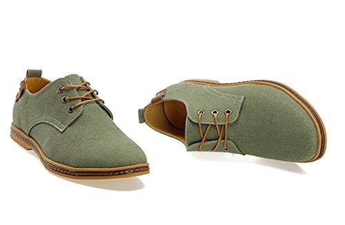 38 Casuales Hombres Army Zapatos Lona De 46 Seasons Tendencia Renmen Grande Green Four Los 6vqBnza