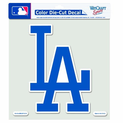 MLB Los Angeles Dodgers 8-by-8 Inch Diecut Colored ()