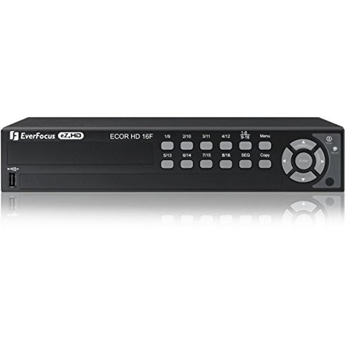 (Everfocus ECORHD16F/4T 720P Had Digital Video Recorder, Multiple Monitor Outputs, 16 Channel, Without DVD Burner, 4TB Storage)