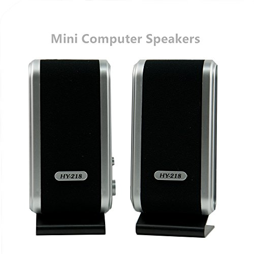 USB Power Multimedia Stereo Wired Computer Speakers Stereo 3.5mm Jack for Desktop PC Laptop - Multimedia Pc Laptop