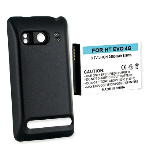 HTC PC36100 Cell Phone Battery (Li-Ion 3.7V 2200mAh) Rechargable Battery - Replacement For HTC EVO 4G Cellphone Battery