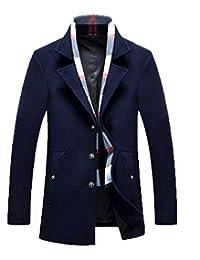 XXZTQ Men's Winter Fashion Woolen Jacket