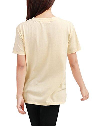 Allegra K Damen Tiger Drucken vorne Rundhalsausschnitt Pullover Shirt Top EU40