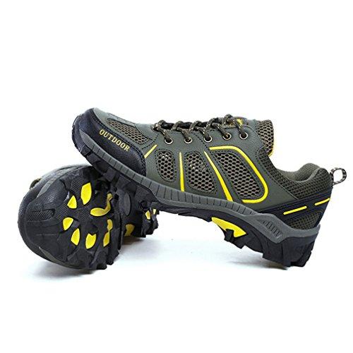XIGUAFR caño bajo oscuro botas verde de Unisex adulto wOxEw4Aqr