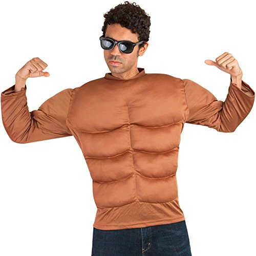 Dark Skin Muscle Chest Adult Costume