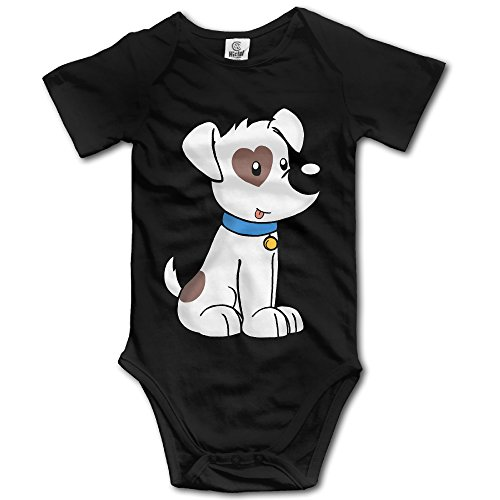 GMRLOVE Cute Dog Short Sleeve Romper Play Suit For 6-24 Months Toddler 18 Months Black (Black Cat Babe Costume)