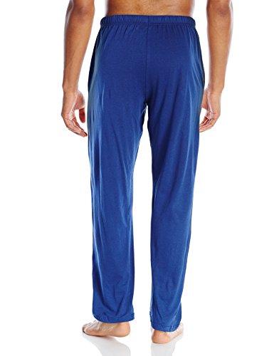 Hanes Men's Solid Knit Pant, Blue, Medium