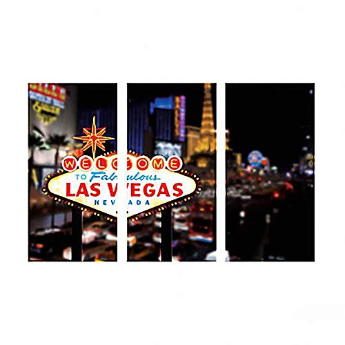 Welcome To Las Vegas Scene Casino Backdrop Banner Decoration Photo Booth (3pcs) -