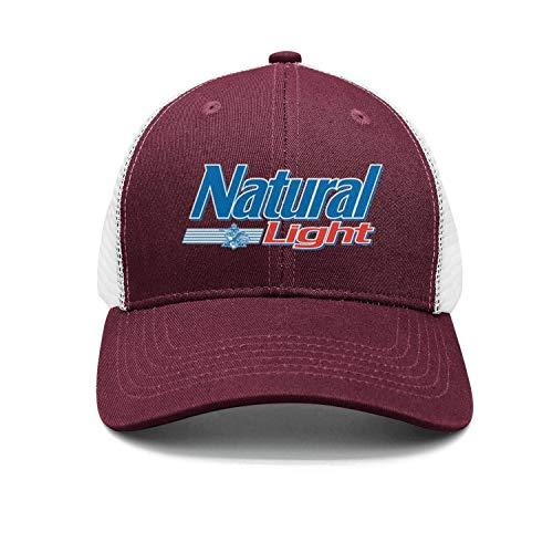 uter ewjrt Adjustable Natural-Light-Logo-Beer- Trucker Hat Fitted New Caps