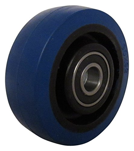 RWM Casters Signature Premium Rubber Wheel, Precision Ball Bearing, 225 lbs Capacity, 3.5