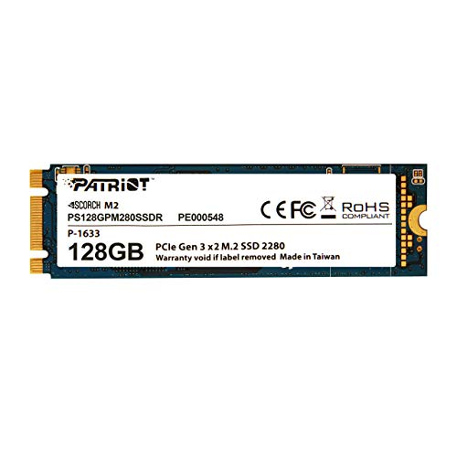 Patriot Scorch 128GB NVMe M.2 PCIe Solid State Drive Up to 1700MB/s Read Transfer Speeds