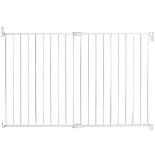 Munchkin Extending Metal Extra Tall and Wide Baby Gate, White (Door Gate Munchkin Baby With)
