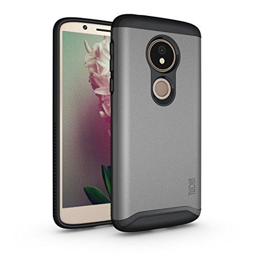 Moto G6 Play Case, TUDIA Slim-Fit Heavy Duty [Merge] Extreme Protection/Rugged but Slim Dual Layer Case for Motorola Moto G6 Play (Metallic Slate)