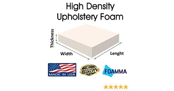 High Density Foam Upholstery Cushion SOFA, CHAIR, BENCH, SEAT, REPLACEMENTS