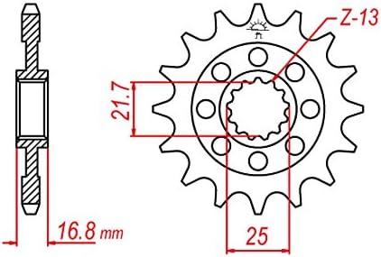 2012-2013 DID X-Ring extra verst/ärkt gold RC63 Kettensatz f/ür Honda NC 700 X