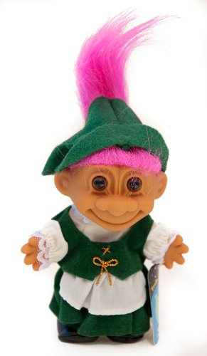 My Lucky Troll From Germany - Hot Pink Hair by Russ Berrie ()