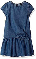 Tommy Hilfiger Big Girls' Denim Dress, Blue Blaze, X-large