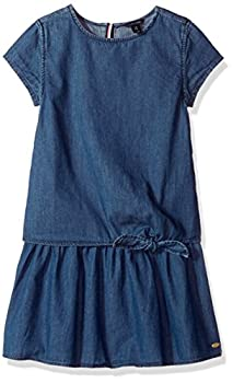 Tommy Hilfiger Big Girls' Denim Dress, Blue Blaze, X-large 0