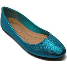 Walstar Womens Ballerina Ballet Flat Shoes Solids & Glitter