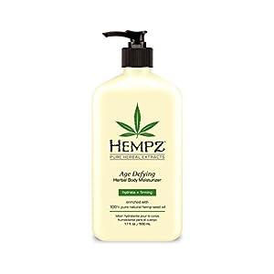 Hempz Age Defying Herbal Body Moisturizer, Off White, Vanilla/Musk, 17 Fluid Ounce