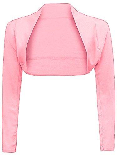ZJ Clothes - Bolero de manga larga para mujer rosa pastel