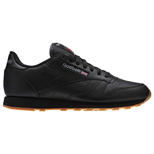 (Reebok Boys' Classic Leather Sneaker, Black/Gum, 7.5 M US)