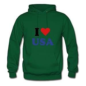 I Heart Usa Green Women Popular Hoodies Shirt Custom X-large