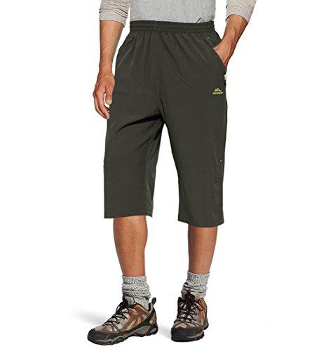 74293eb80c Jual TACVASEN Men's Quick Dry Hiking 3/4 Long Capri Shorts Zipper ...