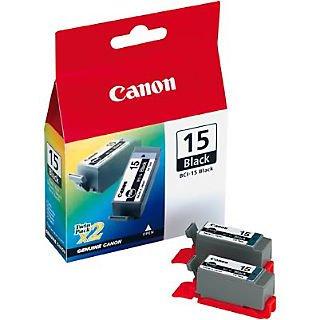 Canon® BCI15BK Black Ink Cartridges Dual Pack