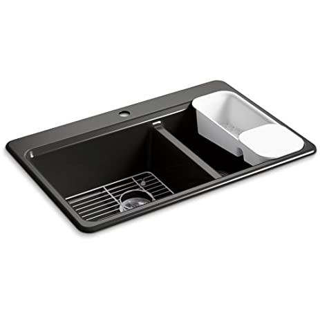 Kohl 8669-1A2-7 - RIVERBY OFFSET TOP MOUNT SINK - - Amazon.com
