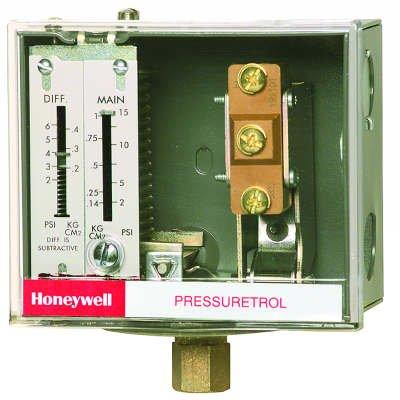 "Honeywell Pressuretrol SPST 2-15 PSI make on rise no ""B"" terminal"