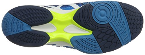 Asics Gel-Blast 7, Zapatillas de Balonmano para Hombre Azul (Blue Jewel/white/safety Yellow)