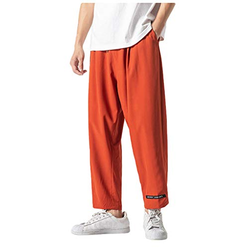 - Mens Straight Sweatpants | Men Relax Loose Fit Pure Color Active Running Jogger Track Pants | Causal Drawstring Waist Trousers