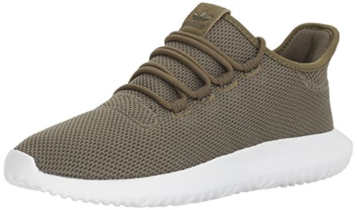 adidas Originals Men's Tubular Shadow Sneaker Running Shoe, Olive Cargo/White, 8.5 M US