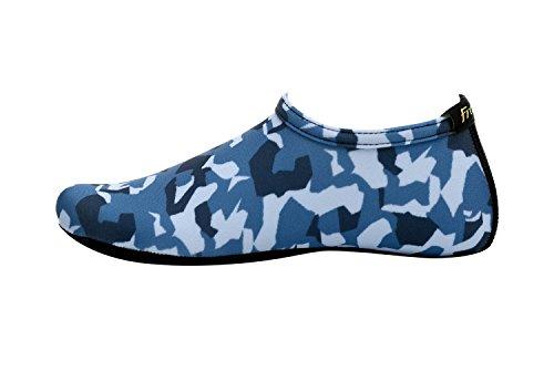 Fritt Nye Barbeint Vann Hud Sko Aqua Sokker Til Strand Svømme Surfe Yoga Trening M.blue