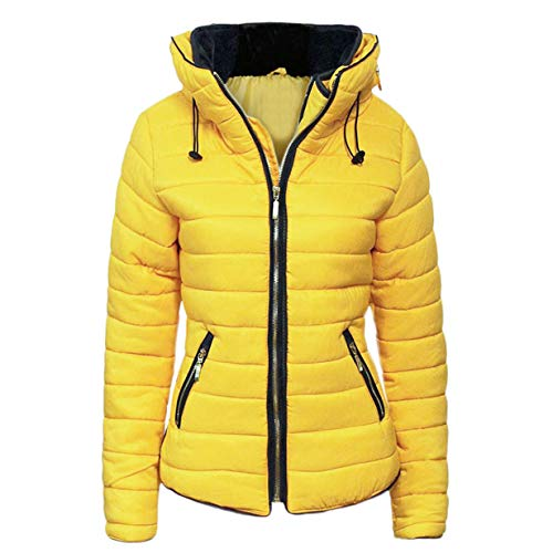 FashionCity Womens Quilted Puffer Jacket S-XXXXXL Lemon