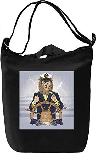Sailor Lion Borsa Giornaliera Canvas Canvas Day Bag| 100% Premium Cotton Canvas| DTG Printing|