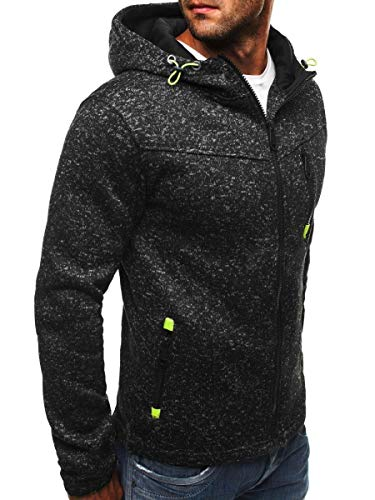 Men's Slim Fahsion Hoody Drawsting Pure Zipper Hoodies Sweatshirts Pullover Coat Jacket -