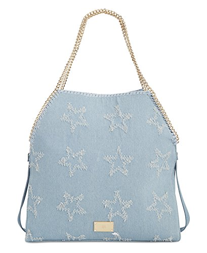 Distressed Large Twill INC Shoulder Kadi Blue Handbag Womens gqwAF