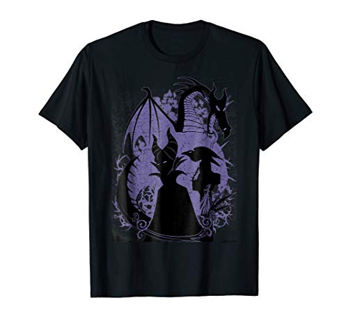Disney Sleeping Beauty Maleficent Dragon Silhouette T-Shirt