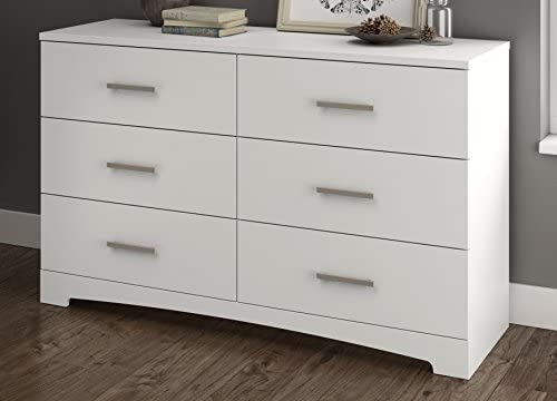 South Shore Gramercy 6 Drawer Double Dresser, Pure White