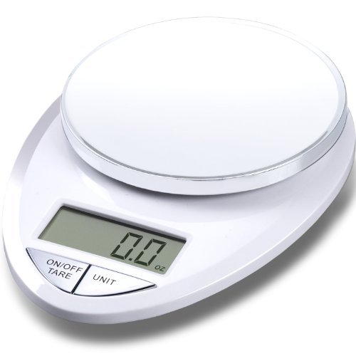 EatSmart Precision Pro Digital Kitchen Scale, White