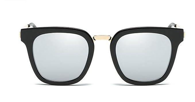 8d9f82cab0 GAMT Polarized Wayfarer Sunglasses Unisex Fashion Mirrored Full Frame  Sunglasses Silver