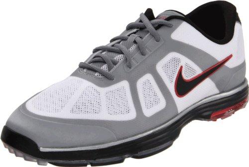 Nike Golf Men's Nike Lunar Ascend Golf Shoe,White/Black/Action Red/Granite,11 W US