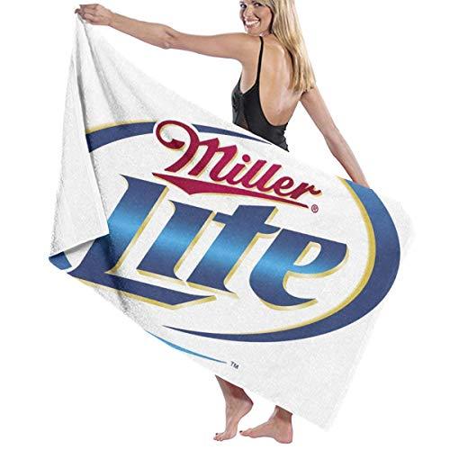 Miller Lite Logos - YF150 Miller Lite Logo Bath Towels Luxury Microfiber Beach Towel Quick-Drying Pool Towel Blanket
