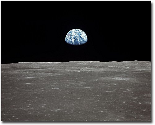 Apollo 11 Earth Rising Over Lunar Surface 8x10 Silver Halide Photo - Rising Board Museum